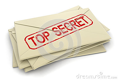 Top Secret letters  (clipping path included)