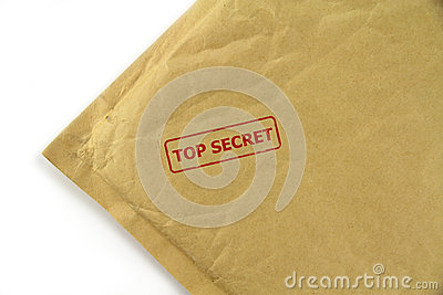 Top secret mail with red stamp