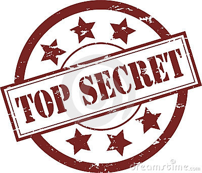 Top Secret Rubber Stamp (Vector)