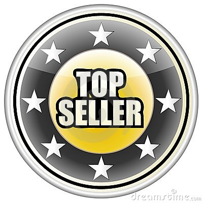 Top Seller Button Vector, Easily Editable.
