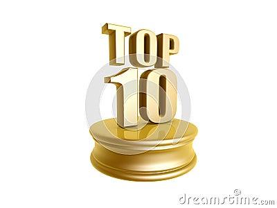 Top ten in rank list