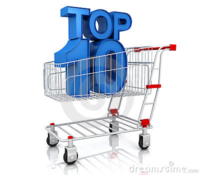 Top ten in shopping cart