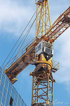 Top of tower crane and sky