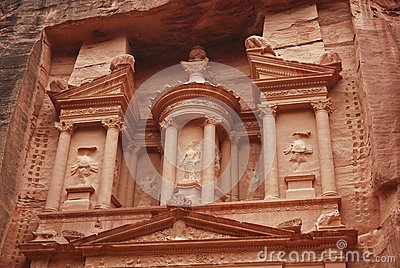 Top of the Treasury in Petra