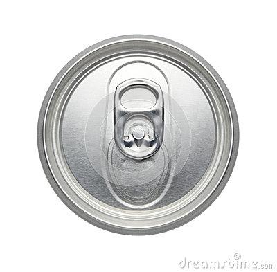 Top Of An Unopened Soda Or Beer Can Realistic Photo Image Royalty