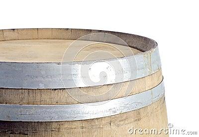 Top of a Used Oak Wine Barrel