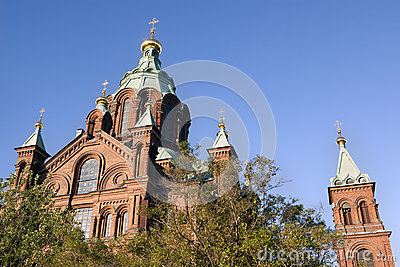Top of Uspensky Cathedral, in Helsinki, Finland