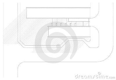 Top view of an architectural design
