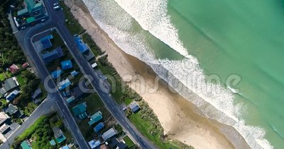 Top view of the arriving emerald ocean waves. Shevelev. stock footage