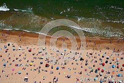 Top view of Carcavelos beach