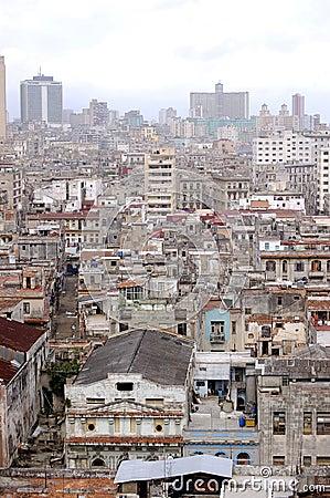Top view of the city of havana, Cuba