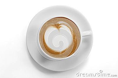 Top view of a coffee mug