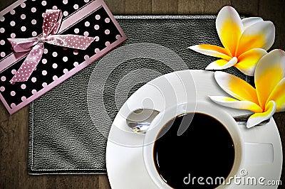 Top view espresso cup