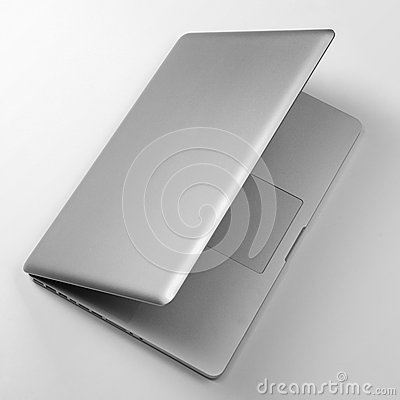 Top View Of Laptop On White Table Royalty Free Stock Photo Image