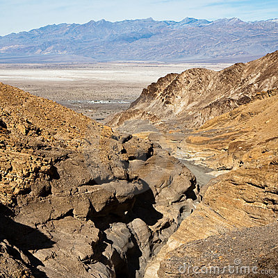 Top View of Mosaic Canyon in Death Valley