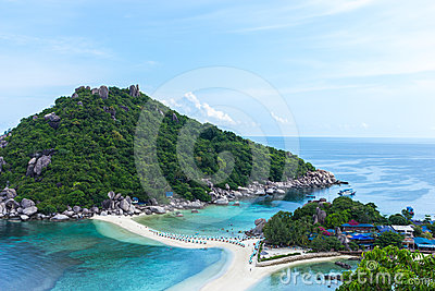 Top view Nangyuan Island in Thailand