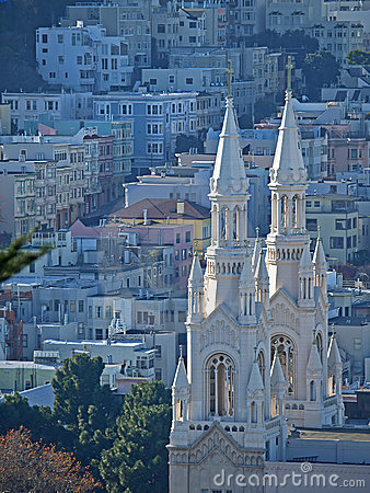 Free Top View Of St. Peter & Paul Church In San Francis Royalty Free Stock Photo - 12221055