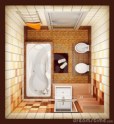 Free Top View Of The Bathroom Stock Photography - 2439922