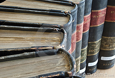 Top view of Old Legal / Law Books