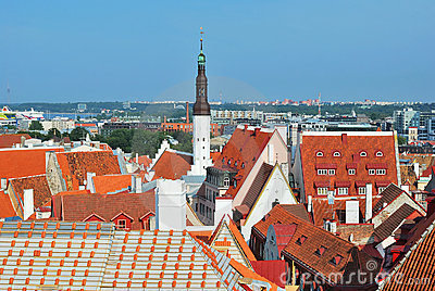 Top view of the Old Tallinn