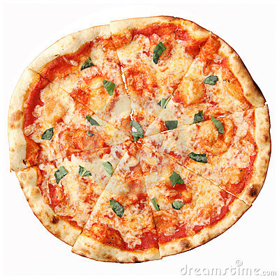 Top View Of Pizza Margherita Stock Photography - Image: 23174892