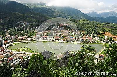 Top view of Sapa, Vietnam
