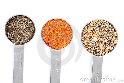 Top view of seasoning