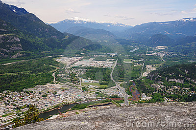 Top view of squamish town