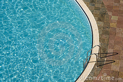 Top view of a swimming pool