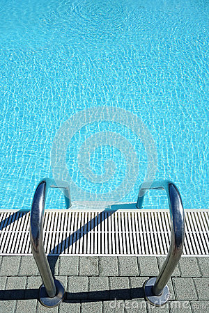 Top view swimming pool water ladder stock photo image - Waterford crystal swimming pool times ...