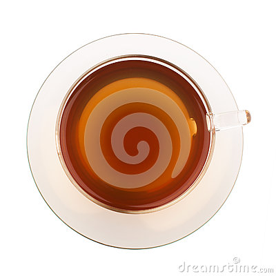 Top view of tea