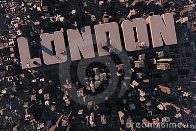 Top view of urban city in 3D