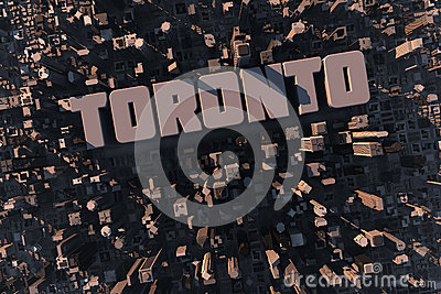Top view of urban Toronto city