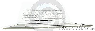 Top View of  White Laptop Keyboard
