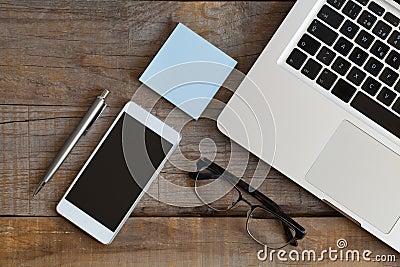 Office Stuff Desktop Stock Photo - Image: 69126100