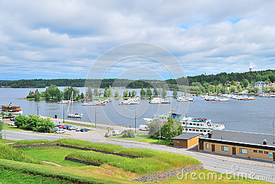 Top-viewof  Lappeenranta harbor. Finland