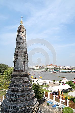 Top of Wat Arun Temple in Bangkok , Thailand