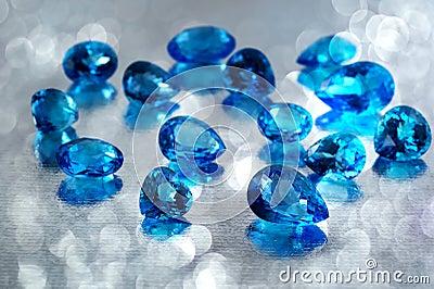 Topaz gemstones.