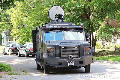 Topeka Police armored Rescue Vehicle Editorial Stock Photo