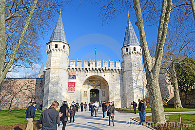 Topkapi Palace Gate Editorial Stock Image
