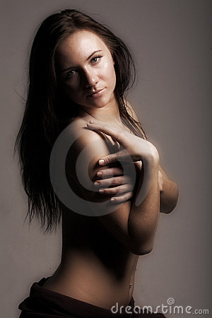 Free Topless Modest Girl Stock Photo - 7863230