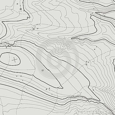 Topographic map background concept with space for your copy. Topography lines art contour , mountain hiking trail Vector Illustration