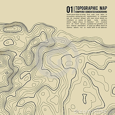 Free Topographic Map Background With Space For Copy . Line Topography Map Contour Background , Geographic Grid Abstract Royalty Free Stock Photos - 91185168