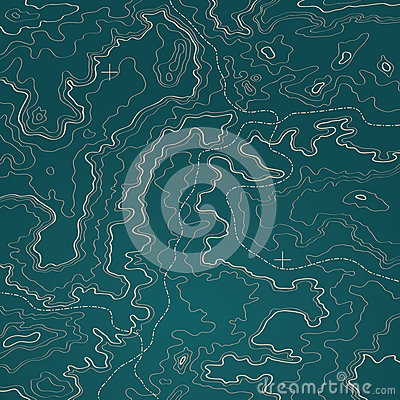 Free Topographic Map Green Stock Images - 25983604