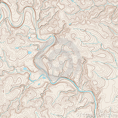 Realistic Topographic map of an area west of Austin, Texas. Vector map ...