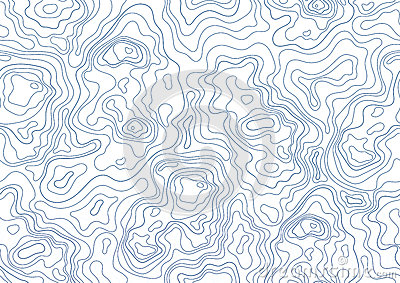 Topographic Map Seamless Pattern Monochrome Background With