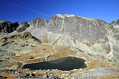 Tops of High Tatras Mountains in Slovakia.