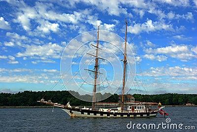 Topsail schooner.