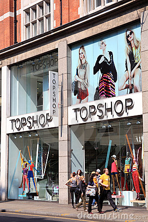 Topshop clothing store Editorial Photography