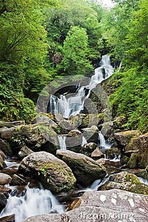 Torc waterfall in Ireland.